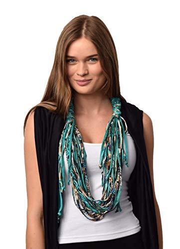 Unique Fashion Roxie Shred Neckwear (Teal, Brown)