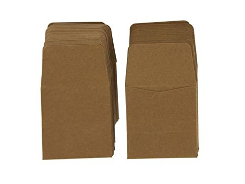 Archival Paper Coin Envelopes 2×2 Brown by Guardhouse 100 Pack