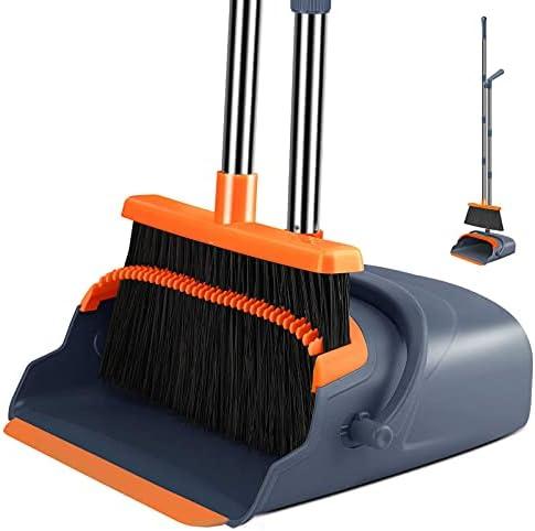 Kelamayi 2021 Upgrade Broom and Dustpan Set,...