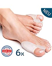 Bunion Correctors Toe Straightener (Transparent, 6 Pieces) Hallux Valgus by YogaMedic - Soft, Comfortable and Long Life - Splint, Separator, BPA Free
