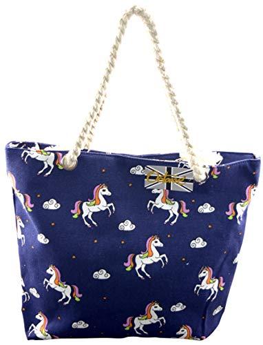 amp; Navy Ladies Multi Styles Collection Tote Handbags Beach Unicorns Various OCTAVE Summer Design Colours Unicorn 8qdB14