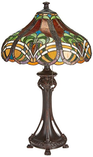 Dale Tiffany TT101033 Bellas Table Lamp, Antique Bronze