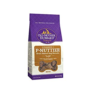 Old Mother Hubbard Classic Crunchy Natural Dog Treats, P-Nuttier Mini Biscuits, 5-Ounce Bag