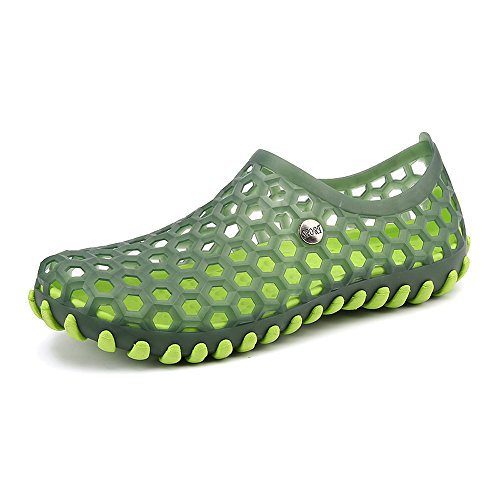 Enllerviid Uomo Quick Dry Water Shoes Slip On Sandali Da Spiaggia Garden Zoccoli Scarpe 2189 Verde