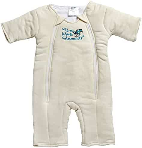 Baby Merlin's Magic Sleepsuit - Swaddle Transition Product - Cotton - Cream - 6-9 Months