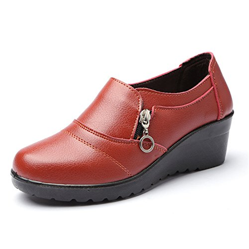 Autumn Zip Boots Low Wedges Size PU Women Jeff 41 Platform Ankle Leather 35 Tribble Yellow Plus Shoes Soft nx4HqwI1z