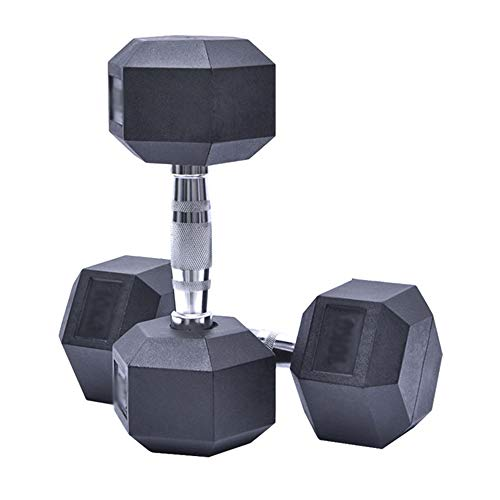 Dumbbells, hexagonale dumbbells, rubberen dumbbells, vaste dumbbells, gym dumbbells, duurzaam en valbestendig…