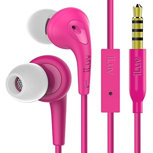 iLuv Bubblegum 3, High End Sound Quality with Noise Isolation, Sweat Proof, Ergonomic Angled Ear Tip, Hands-Free, and Soft Touch Rubber-Coating for iPhone, Smartphones, and Tablets (3rd -