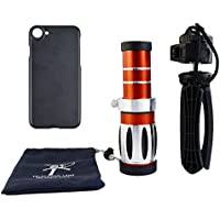 Apexel 20X Ultra Beast Magnifier Zoom Manual Focus Telephoto Telescope Phone Camera Lens Kit with High-end Tripod for iPhone 8