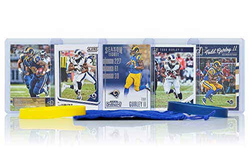 (Todd Gurley II Football Cards Assorted (5) Bundle - Los Angeles Rams Trading Cards)