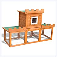 K&A Company Outdoor Large Rabbit Hutch House Pet Cage Single House