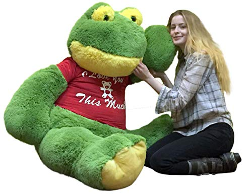Big Plush Giant Stuffed Frog 60 Inches Soft 5 Foot I Love You This Much
