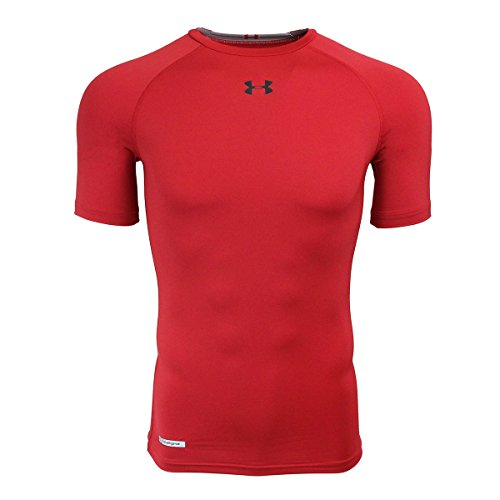 07629ef9 Under Armour Men's 1236224-600S HeatGear Sonic Compression T-Shirt,  Red/Black