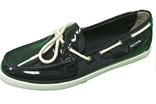 (Cole Haan Women's Nantucket Camp Moccasins Navy Blue Patent Size 9 M US)