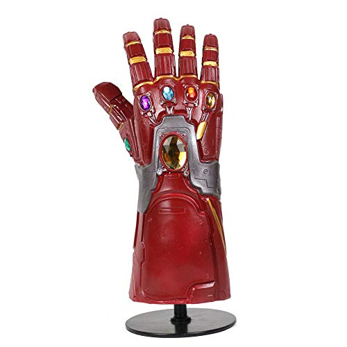 COSSHOW End Game Advenger4 Iron Glove Gauntlet Arm Costume for Cosplay Stone (red-No illuminate)]()