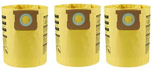 (Shop-Vac 9067100 Type H 5-to-8-Gallon High-Efficiency Disposable Collection Filter Bag 3-Pack)