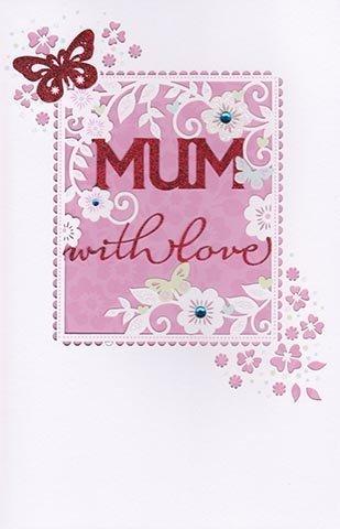 Amazon Carlton Cards Mum With Love Birthday Card Die Cut
