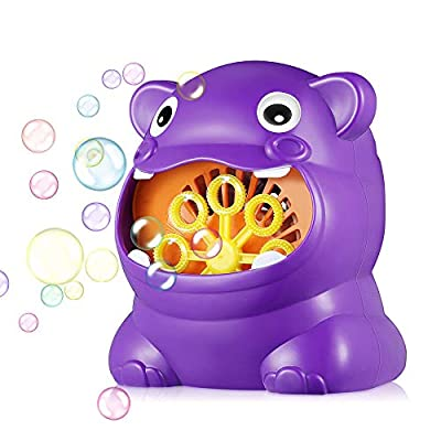 Olymmont Funny Automatic Bubble Blower Fan Electric Bubble Machine Outdoor Kids Toys Games,Make of Food-Grade ABS, Eco- Friendly Material: Sports & Outdoors