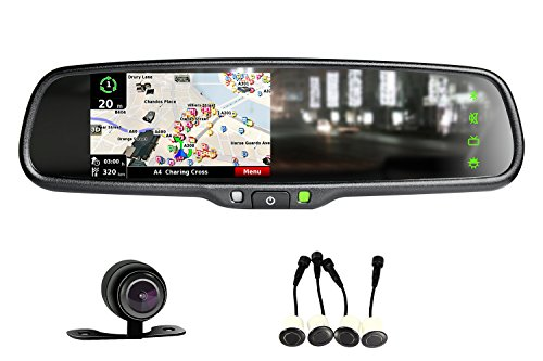 iMirror OEM styled car rear rearview mirror monitor with GPS navigation with iGO map, bluetooth handsfree and backup camera display touch screen by iMirror (Image #4)