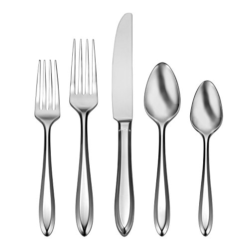 Oneida Patrician 45 Piece Fine Flatware Set, 18/10 Stainless, Service for 8 (Oneida Box Silverware)