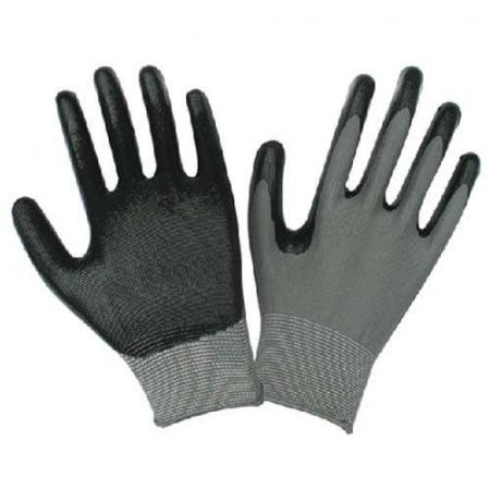 Safety Grip Protection Gloves Economical String Knit Latex Dipped Palm Gloves, Nitrile Coated Work Gloves for General Purpose, One Size, Black (10) by Safety Grip Protection