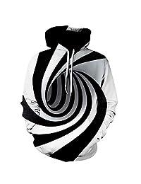 Allywit 3D Print Pullover Sweaters Shirt Hoodie Men Women Sweater Jacket Pocket