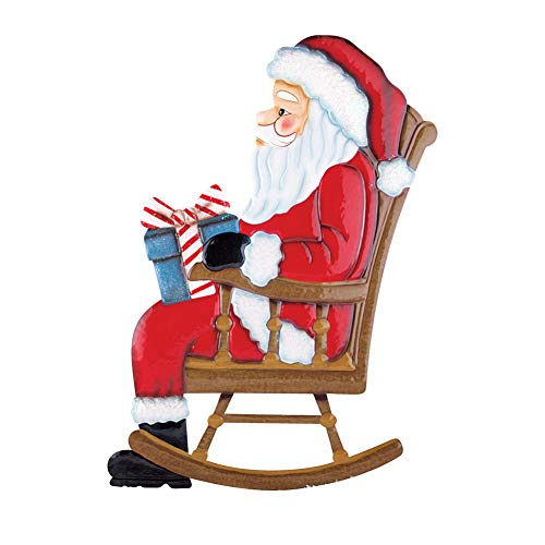 Collections Etc Outdoor Christmas Decoration – Rocking Chair Mr. & Mrs. Santa Claus, Santa