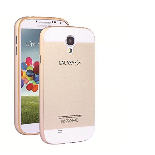 FUUSII Samsung Galaxy S4/i9500 Case CellPhone Metal Bumper Frame & Acrylic Back Cover Protective Case&Back Cover Case Cases for Samsung Galaxy S4/i9500(Gold)