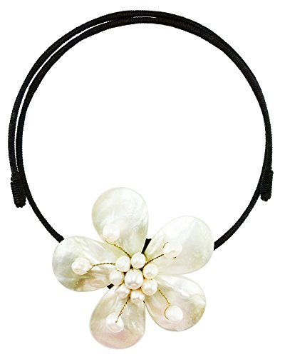 bijoux-de-ja-mother-of-pearl-bloom-pendant-memory-wire-choker-collar-necklace-14-18-inches