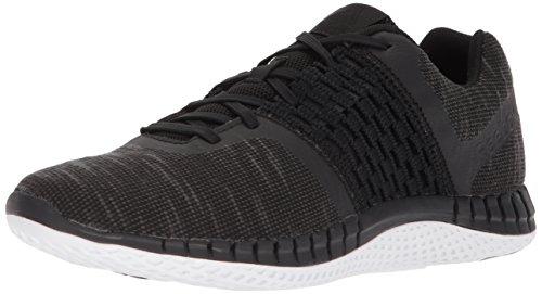 Reebok Mens Print Run Dist Sneaker Black/Alloy/White