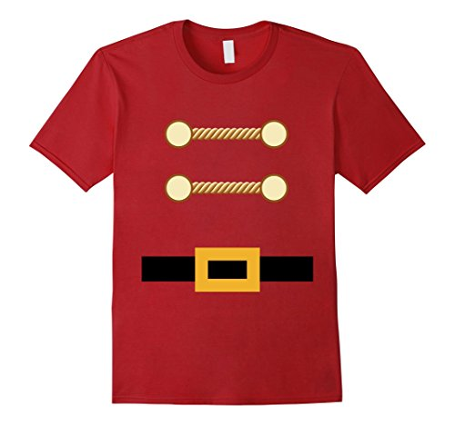 Mens Toy Soldier Christmas Costume Tee Nutcracker Uniform XL Cranberry - Homemade Christmas Toy Soldier Costume