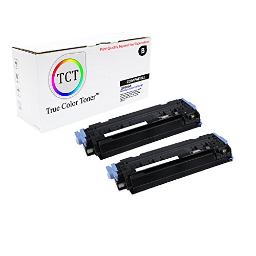 2500 Printer Series Color (TCT Premium Compatible Q6000A Black Toner Cartridge 2 Pack for the HP 124A series - 2,500 yield- works with the HP Color LaserJet 2600N, 1600, 2605N, 2605DN, 2605DTN, CM1015 MFP, CM1017 MFP)