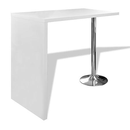 Vidaxl home dining bar table coffee bar table side table counter 1 vidaxl home dining bar table coffee bar table side table counter 1 steel leg white watchthetrailerfo