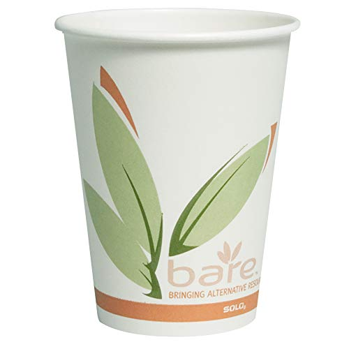 Solo 412RCN-J8484 12 oz Bare PCF Paper Hot Cup (Case of 1000)