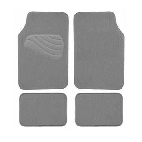Armor All 78961 4-Piece Grey Luxury Carpet Floor Mat