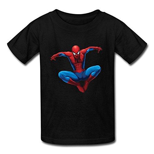 Youth Love Screw Neck Spider Man T-Shirt Navy US Size XL