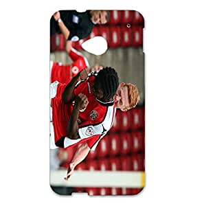 Encouraging Walsall Football Club Absorbing Back Hard Phone Case For Htc One M7
