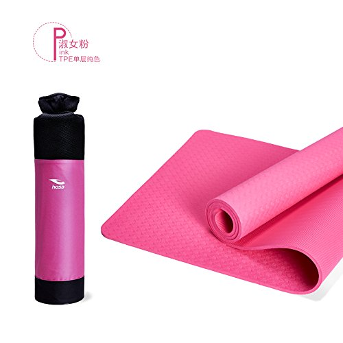 YOOMAT Environmentally Friendly TPE Yoga Mat Single-Layer Solid Farbe Anti-Slip Floor Mat 8Mm Extension 183 Fitness Mat,8Mm(Starter), The ROT121521