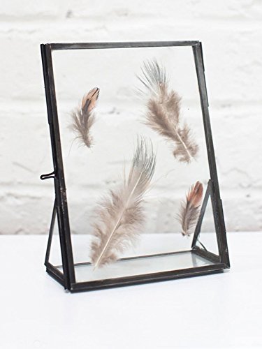 Standing Metal Double Glass Frame 5