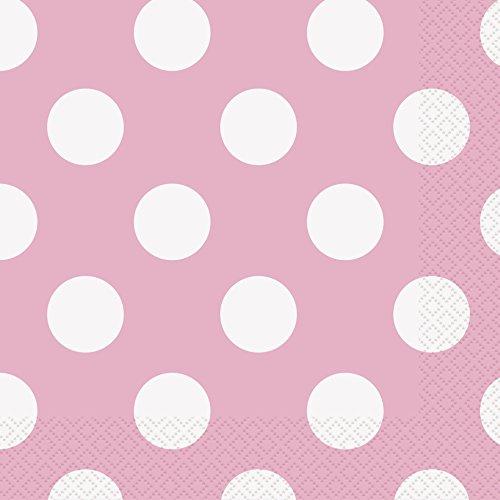 Light Pink Polka Dot Paper Napkins, 16ct