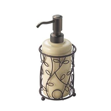 InterDesign Twigz Soap and Lotion Dispenser Pump, for Kitchen or Bathroom Countertop- Vanilla/Bronze