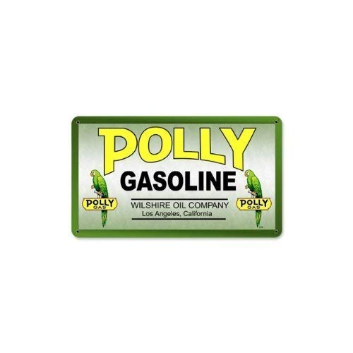 Polly Gas Wilshire Oil Vintage Metal Sign Shop TIN Sign 7.8X11.8 INCH