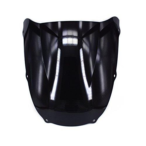 JFG RACING Black Motorcycle Windscreen Windshield For Kawasaki ZX6R Ninja ZX636 1998 - Windscreen Motorcycle Racing