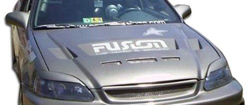 1999-2000 Honda Civic Duraflex Predator Hood - 1 Piece - Predator Fiberglass Hood