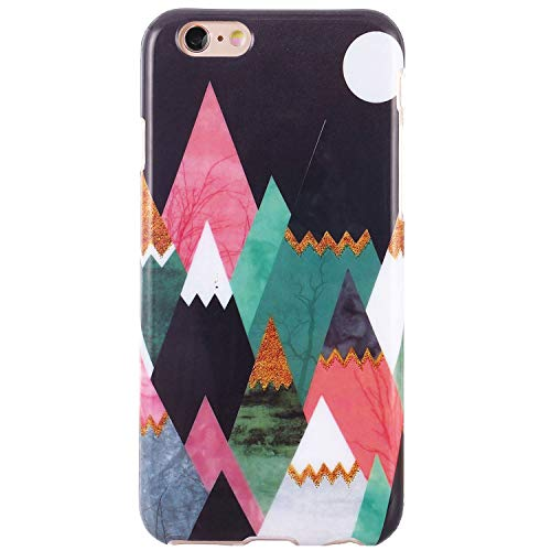 (DICHEER iPhone 6 Case,iPhone 6s Case,Cute Colorful Paintings for Women Girls Slim Fit Thin Clear Bumper Glossy TPU Soft Rubber Silicon Cover Protective Phone Case for iPhone 6/iPhone 6s)