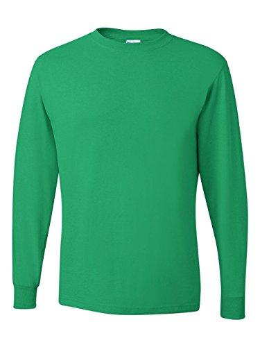 eight Blend 50/50 Long Sleeve T-Shirt (Kelly, Large) ()