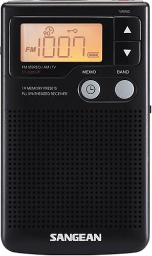 Sangean DT-200X FM-Stereo/AM Audio Digital Tuning Personal Receiver by Sangean