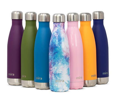 Bottle Hydration Free Pack (MIRA 25 oz Stainless Steel Vacuum Insulated Water Bottle | Leak-Proof Double Walled Cola Shape Bottle | Keeps Drinks Cold for 24 Hours & Hot for 12 Hours | Groovy)