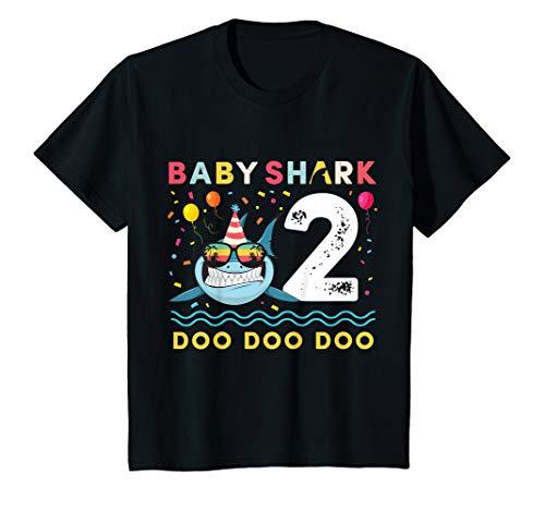 (Kids Baby Shark Shirt Toddler 2nd birthday 2 Year Old Boy or Girl)