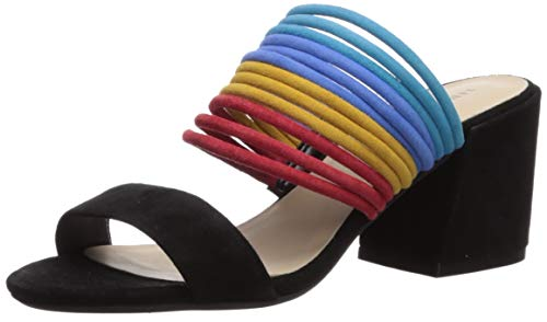 Kenneth Cole New York Women's Hannon Strappy Mule Heeled Sandal Black/Multi 6.5 M US